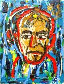 Йордан Калайков - Автопортрет в червено