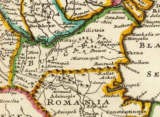 5. Фрагмент от картата на Херман Мол (1736 г.)